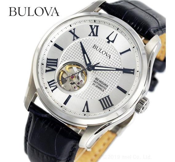 Relogio Bulova Masculino Couro Azul - 96a206