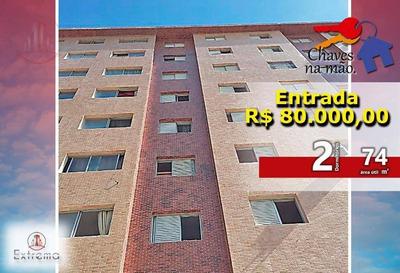 Apartamento 2 Dormitórios À Venda, 74 M² Por R$ 260.000 - Boqueirão - Praia Grande/sp - Ap1020