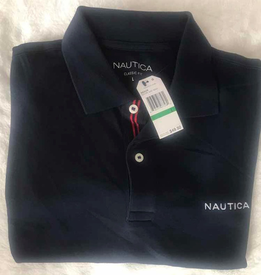 Playera Náutica Classic Fit Color Navy Talla Grande