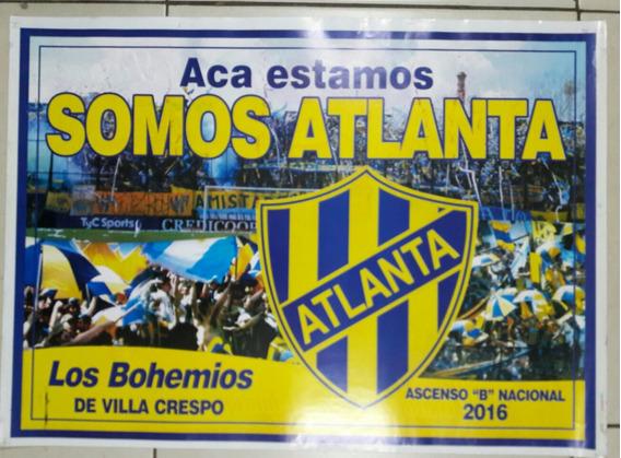 Afiche De Atlanta Ascenso B Nacional 2016 Los Bohemios