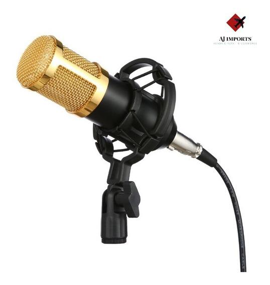 Microfone Estúdio Profissional Bm 800 Condensador