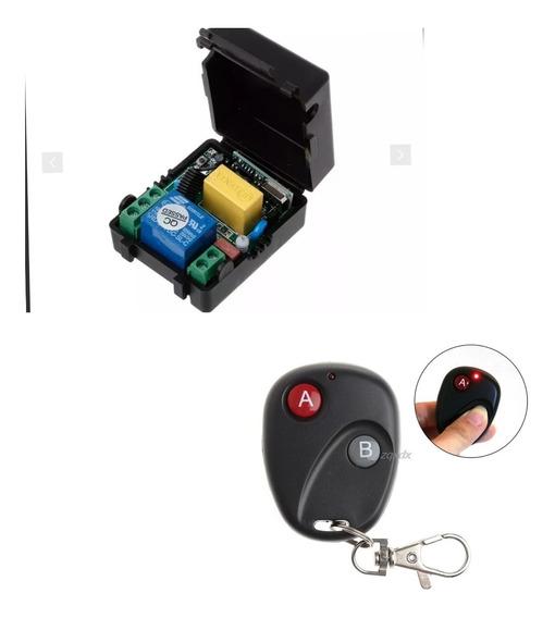Relé Rf 433mhz Ac 85 - 250v 1ch + Case + Controle Remoto