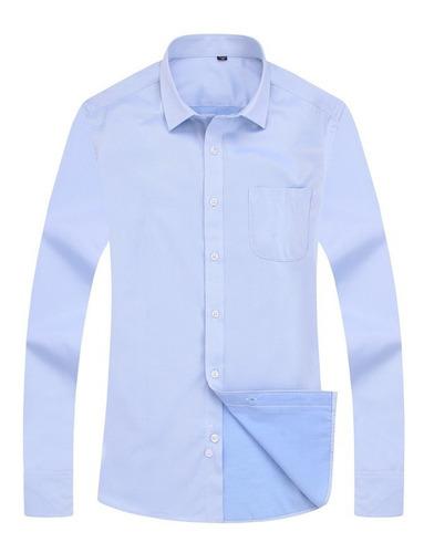 Camisa Oxford En Material Antifluido Y Sin Plancha