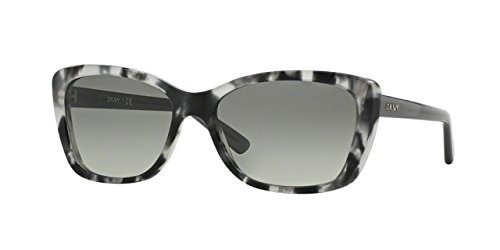 Dkny Mujer Mujer Plástico Cateye Gafas De Sol, Tortuga Gris