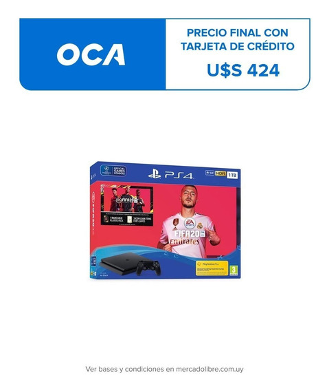 Consola Ps4 Playstation 4 Slim 1 Tb + Fifa 2020 Office 2000