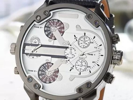 Relógio Mais Oulm Original Luxo Frete Grátis Dial 5,6 Cm Top