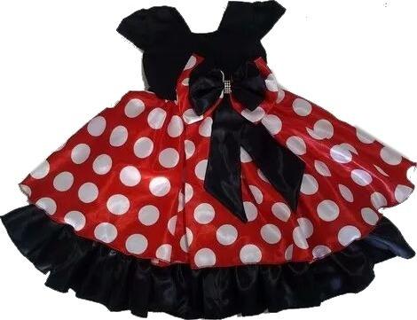 Vestido Da Minnie Infantil Com Tiara Promoção
