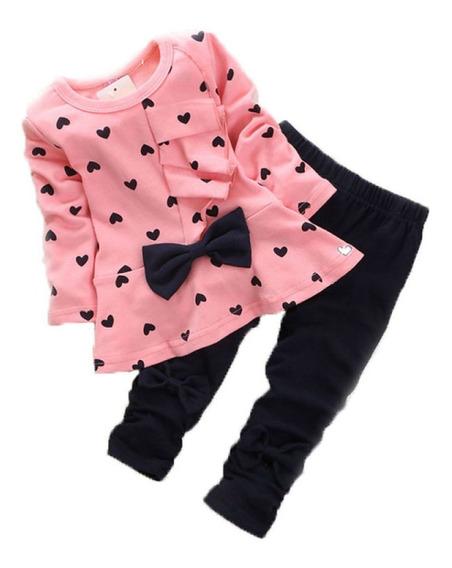 Vestidos Para Bebé Niña - Conjuntos Bebitas Rosado Ropa