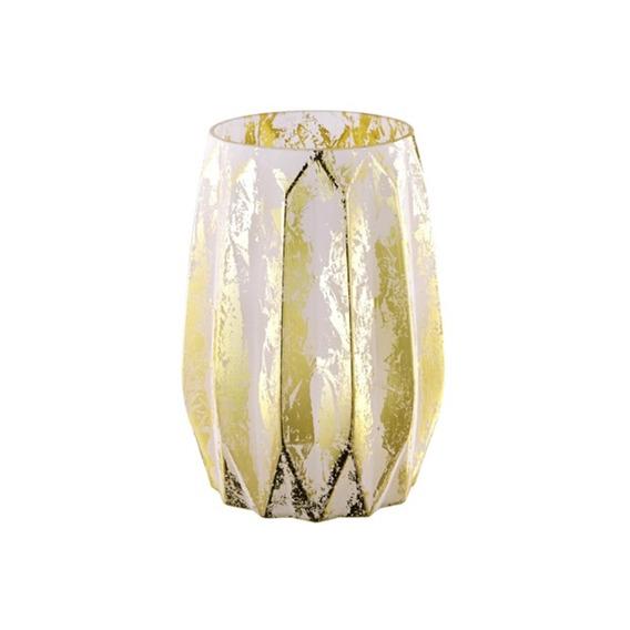 Vaso Em Vidro 20x15cm Nude