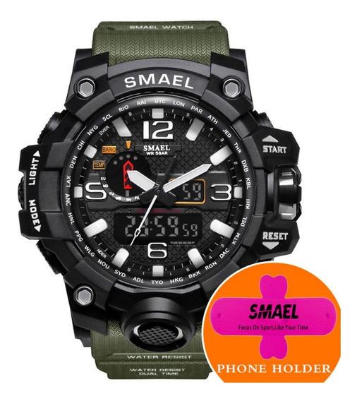 Relógio Masculino Militar Smael 1545 Shock S Dual Time