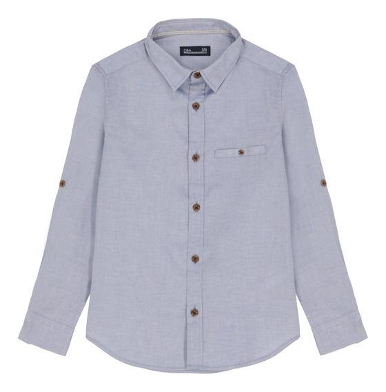 Camisa Manga Larga De Niño C&a (mod 1061073)
