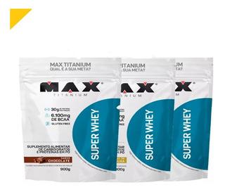Combo 3x Super Whey 900gr + Brinde - Max Titanium