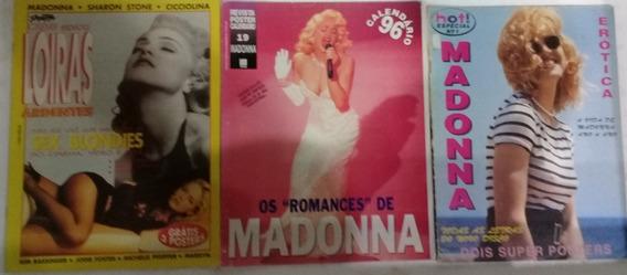 Madonna 6 Revistas E Posters P/colecionador Frete 20,00