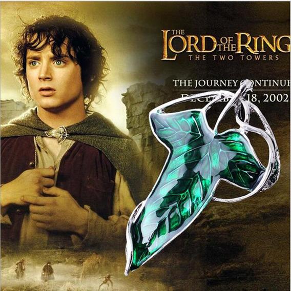 Colar Broche Folha Senhor Dos Anéis Lord Of The Rings