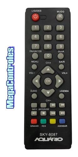 Controle Remoto Para Conversor Digital Aquario Dtv-4000