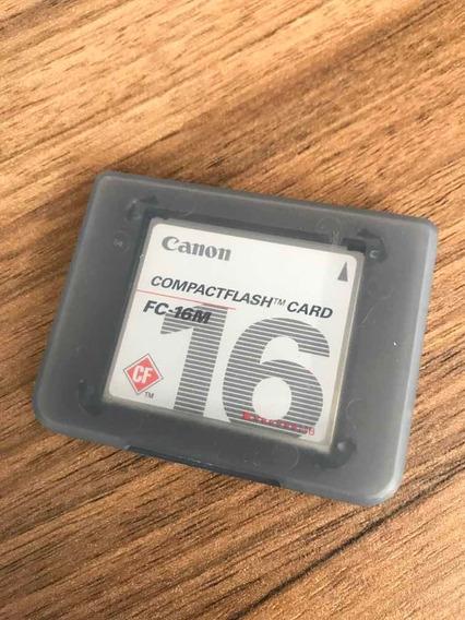 Memory Card Canon Fc- 16m - Compactflash Card - Ok - Raro