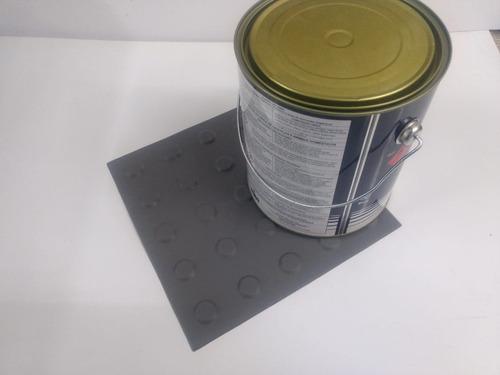 Imagem 1 de 1 de 60 Pçs Piso Alerta Pvc Cinza + 1 Lata Cola 2.8kg
