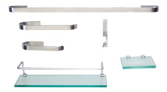 Kit Para Banheiro Onix 2 (6 Peças) Frete Gratis - Sab Inox