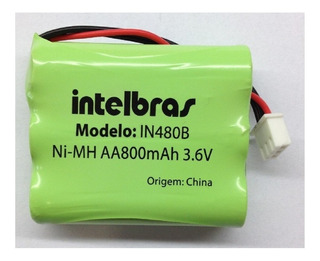 Bateria Intelbras In480b 3,6v 800mah Cf4000 Cf5002 Original