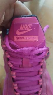 Nike Dama Shox Júnior Rosado