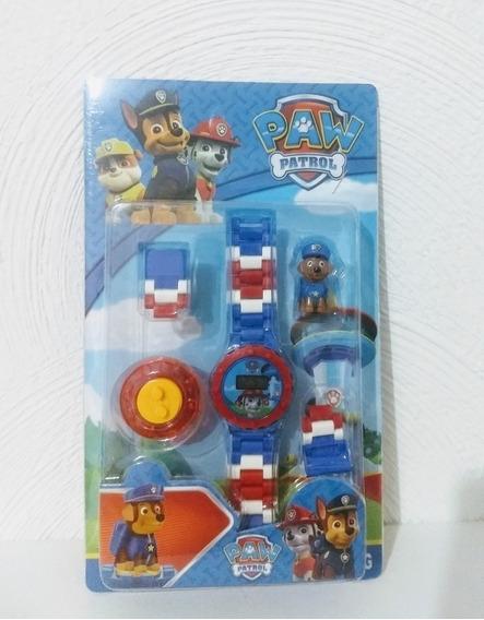 Brinquedo Relogio Digital Infantil Menino + 1 Lego Grátis