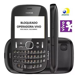 Celular Nokia Asha 201 Qwerty Mp3 Radio Fm Preto
