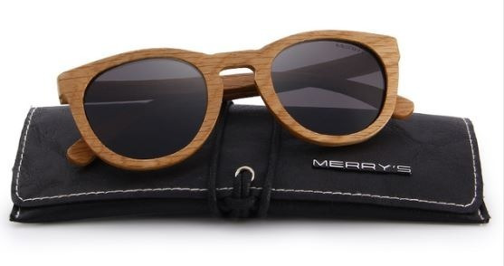 Óculos Sol Merrys Original Madeira Polarizado Uv Lente Cinza