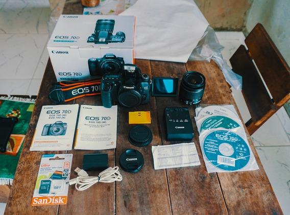 Câmera Canon Eos 70d + Lente 18-55mm+ Cartão Frete Grátis!