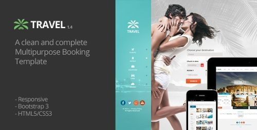 Travel Agency - Travel Online Hotel Booking Html Template