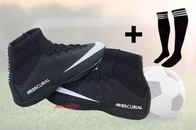 Chuteira Botinha Neymar Futsal Quadra E Meiao De Brinde