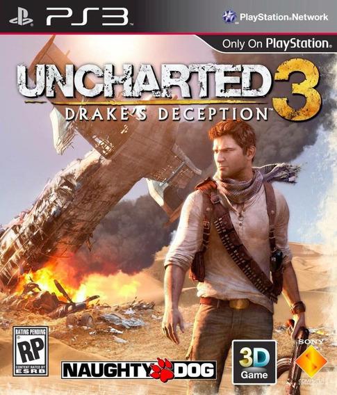 Uncharted 3 Ps3 Psn Português Dublado Jogo
