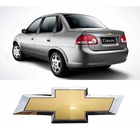 Emblema Dourado Traseiro Gm Corsa Classic Todos Adaptavel