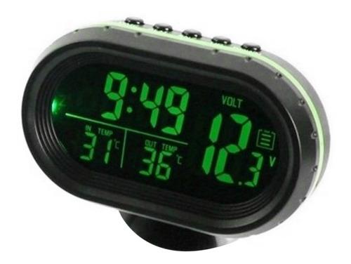 Coche Termómetro Digital Reloj Dc 12 V Automóvil Reloj Led