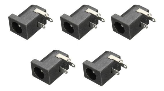 5 Conector Jack P4 2.1mm Fêmea J4 3t Arduino Fonte Power Dc