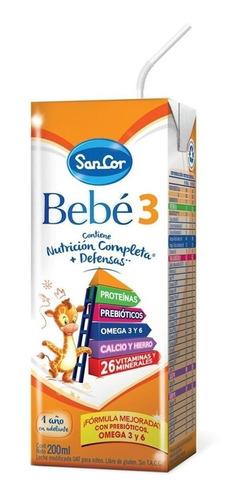 Leche de fórmula líquida Mead Johnson SanCor Bebé 3 original en brick 200mL por 30 u