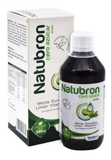 Jarabe Natubron Sin Azucar 240 Ml Mejora Sistema Inmunologic