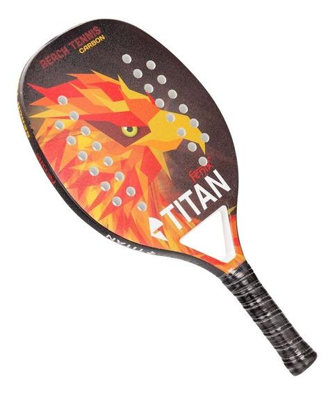 Raquete De Beach Tennis Titan Fenix Carbon 25mm