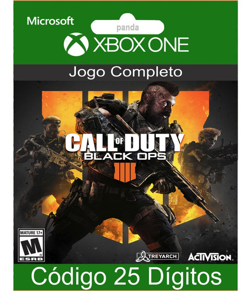 Call Of Duty Black Ops 4 Codigo 25 Digitos 12x No Cartão