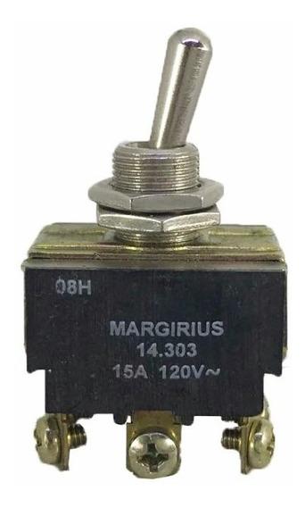 Chave Tic Tac Tripolar Metal 15a Margirius 14203 6 Fios