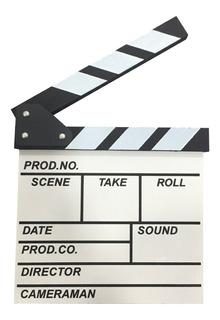 Pizarra Director Estudiante Cine Rodaje Deco Souvenir Escena Claqueta Luz Cámara Acción Madera Pintada 20x20 Cm