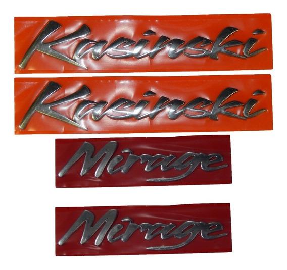 Kit 4 Adesivo Alto Relevo Kasinski + Mirage P/ 250 / 650