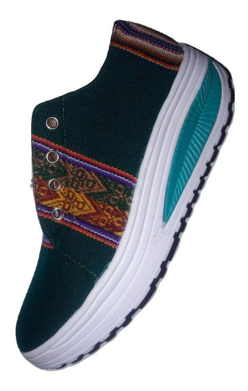 Zapatilla De Aguayo Suela Plataforma - Tipo Perfect Step