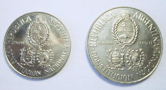 Moneda Argentina 1994 2 Y 5 $ Conmemorativa Constitución