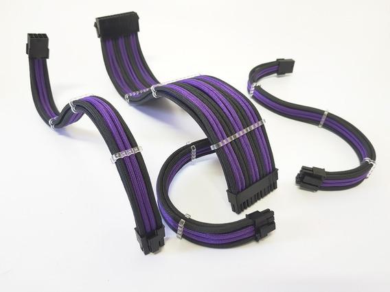 Cabos Extensores Sleeve Premium Titan Caselabs Cpu+mb+2pcie