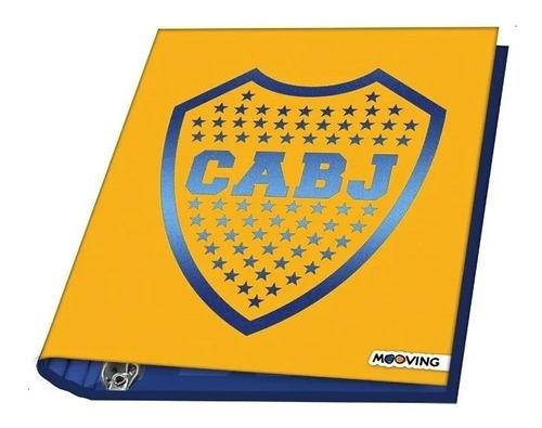 Carpeta Escolar Nro 3 Boca Juniors 3 Anillos 1111 Mooving Ed
