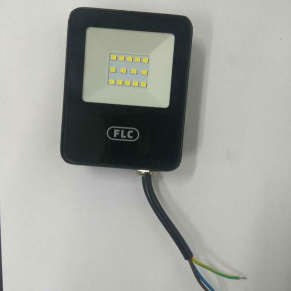 Kit 10 Refletor Led Holofote 10w Biv Ip65 Branco Frio Flc
