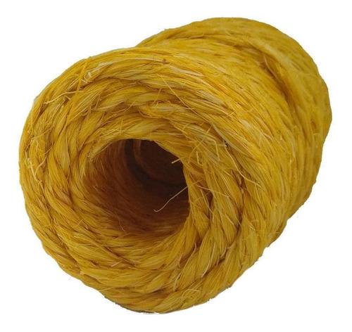Fio De Sisal 700/2 Amarelo 30 Metros 100gr Apaeb