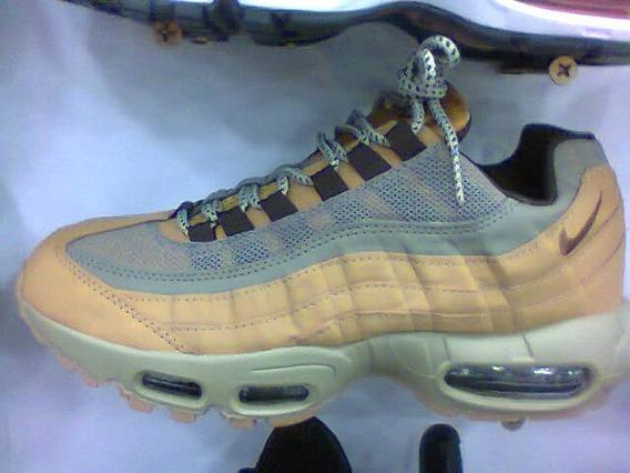 Tenis Nike Air Max 95 Caramelo E Cinza Nº42 Original!!!
