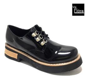 370df96d Zapatos Charol Mujer Acordonados - Zapatos en Mercado Libre Argentina