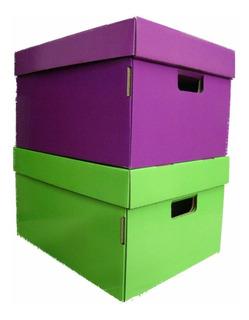 Caja Archivo Plastificada 42x32x25 Americana Carton X10 Unid